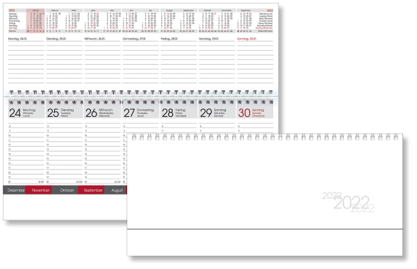 Tischquerkalender TQ